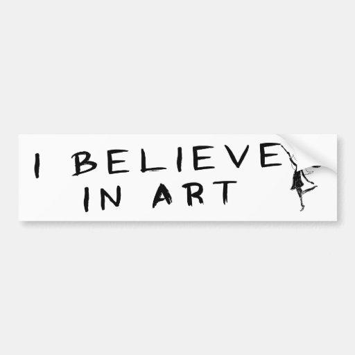 Hada del arte: Creo en arte Etiqueta De Parachoque