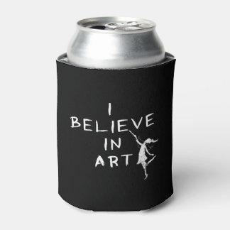 Hada del arte: Creo en arte Enfriador De Latas