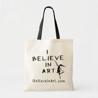 Hada del arte: Creo en el arte promocional Bolsa Tela Barata