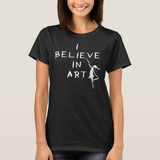 Hada del arte: Creo en oscuridad del arte Playera
