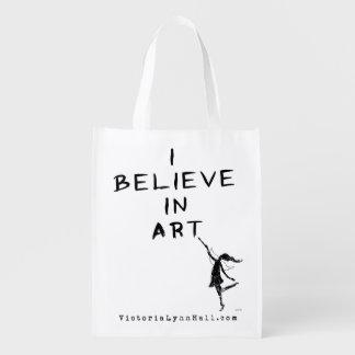 Hada del arte: Creo en valor promocional del arte Bolsas Reutilizables