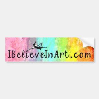 Hada del arte: IBelieveInArt.com promocional Pegatina Para Auto