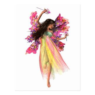 Hada del carnaval de la flor postales