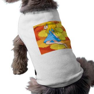Hada del chica del vuelo playera sin mangas para perro