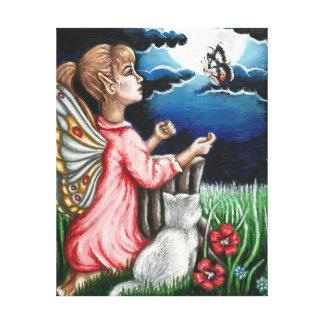 Hada del claro de luna de Ayla y lona envuelta Impresión De Lienzo