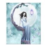 Hada del claro de luna lona estirada galerías