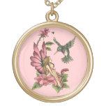 Hada del colibrí collar personalizado