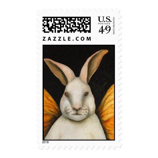 Hada del conejo sellos postales