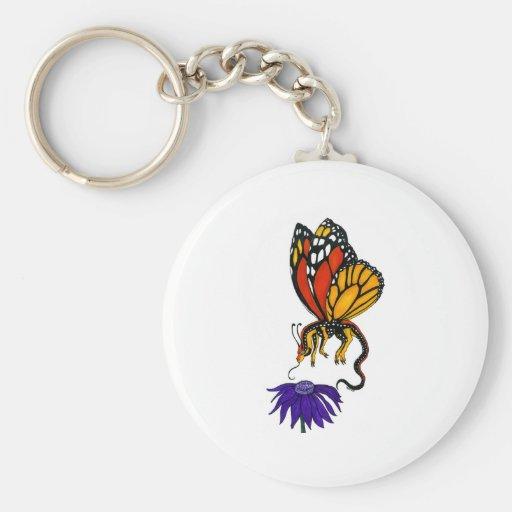 Hada del dragón del monarca llaveros personalizados