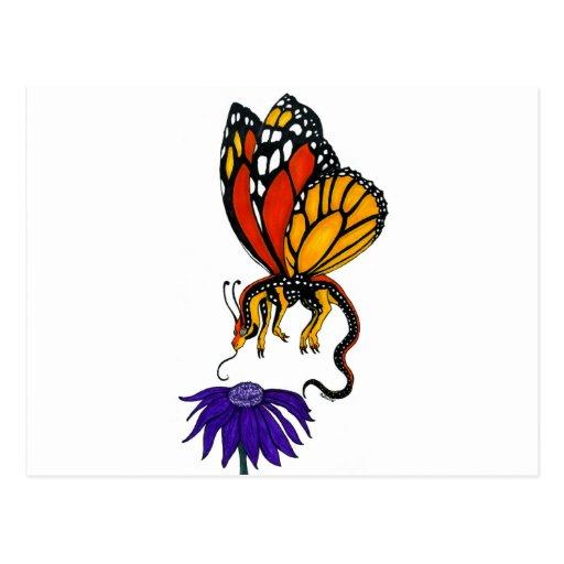 Hada del dragón del monarca postales