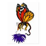 Hada del dragón del monarca tarjeta postal