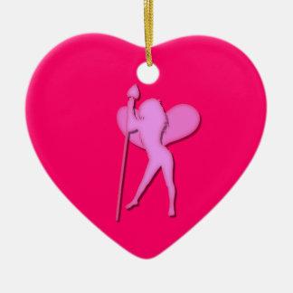 Hada del el día de San Valentín Adorno Navideño De Cerámica En Forma De Corazón