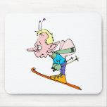 Hada del esquí tapete de ratón