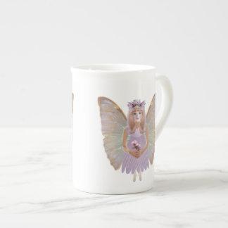 Hada del flor del melocotón taza de porcelana