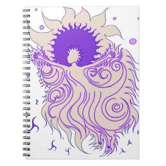 Hada del girasol (lavanda) libreta espiral