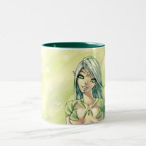 Hada del jade taza de dos tonos