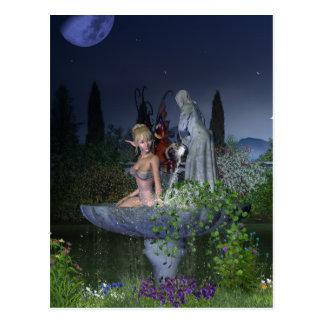 Hada del jardín de la noche postales