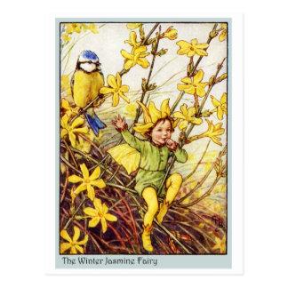 Hada del jazmín de invierno tarjeta postal