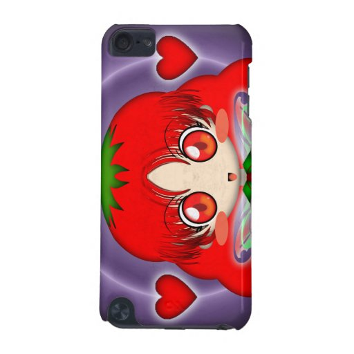 Hada del tomate de Kawaii Chibi transparente Funda Para iPod Touch 5G