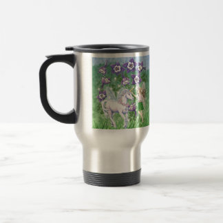 Hada del unicornio taza de viaje de acero inoxidable