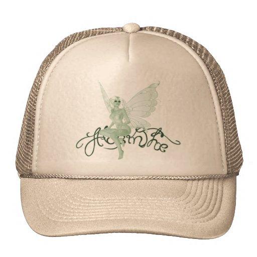 Hada del verde de la firma del arte del ajenjo - a gorras de camionero