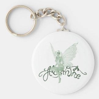 Hada del verde de la firma del arte del ajenjo - a llavero personalizado