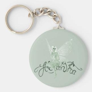 Hada del verde de la firma del arte del ajenjo - a llavero