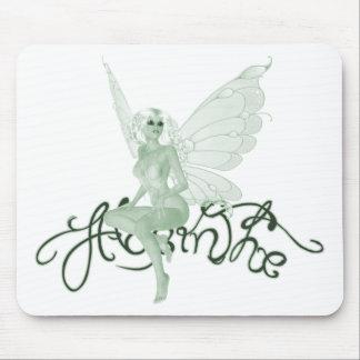 Hada del verde de la firma del arte del ajenjo - a tapetes de ratón