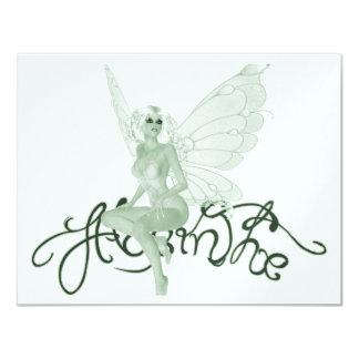 Hada del verde de la firma del arte del ajenjo - anuncios
