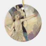 Hada del vintage de Charles Robinson, 1911 Ornamento Para Arbol De Navidad