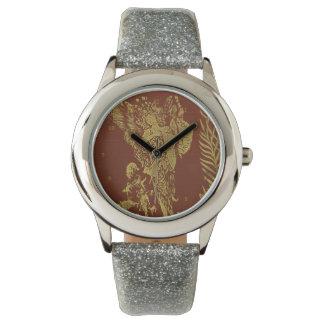 Hada del vintage de la cubierta de libro de hadas reloj de mano