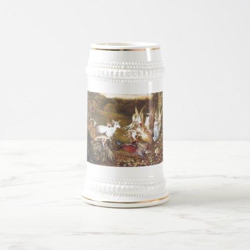 Hada del vintage el bosque encantado tazas de café