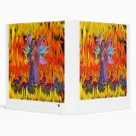 Hada derecha en un campo de llamas con las flores