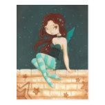 Hada dulce de la estrella de la estrella en una pa postales