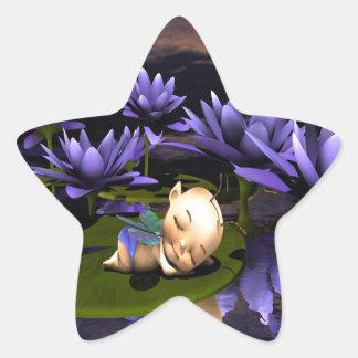 Hada durmiente del bebé pegatina en forma de estrella