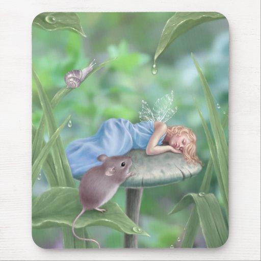 Hada durmiente Mousepad de la seta de los sueños