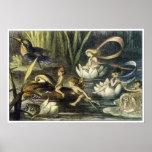Hada e impresión de Waterlily de Richard Doyle Poster