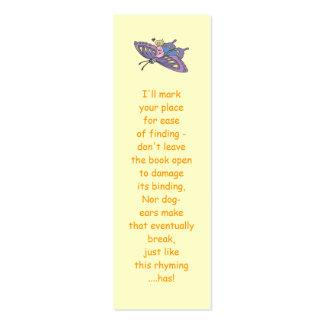 Hada en el vuelo rosado en mariposa plantillas de tarjetas de visita