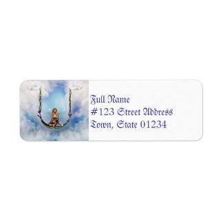 Hada en etiquetas de correo de un remite del oscil etiqueta de remitente