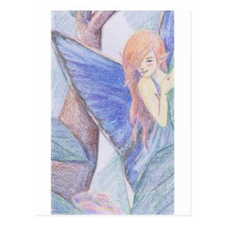 Hada en los rosas 2 tarjetas postales