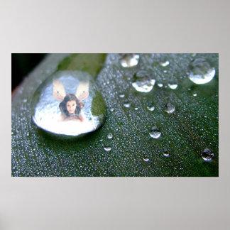 Hada en una gota de agua impresiones