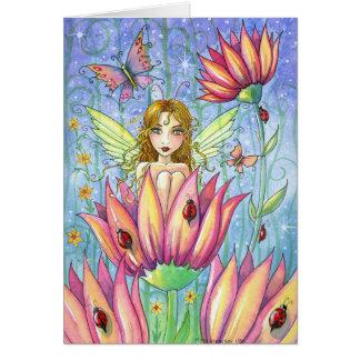 Hada fantástica en tarjeta del jardín por Molly