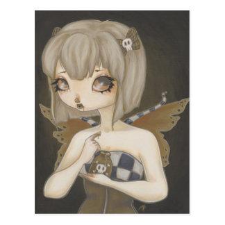 Hada gótica con arte de la fantasía de la postal d