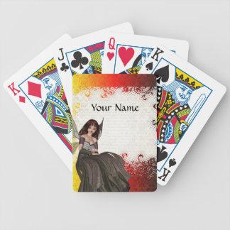 Hada gótica linda baraja de cartas