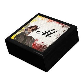 Hada gótica linda cajas de recuerdo