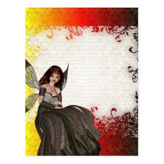 Hada gótica linda postales