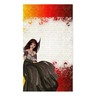 Hada gótica linda tarjetas de visita