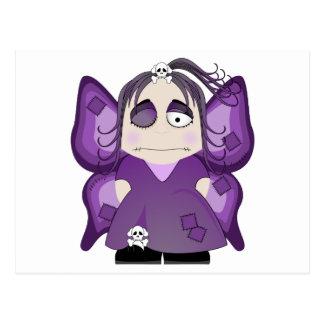 Hada gótica remendada en púrpura postal