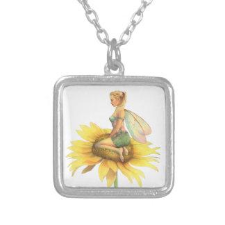"""Hada hermosa de la flor del """"girasol"""" de Scot Howd Collar Personalizado"""