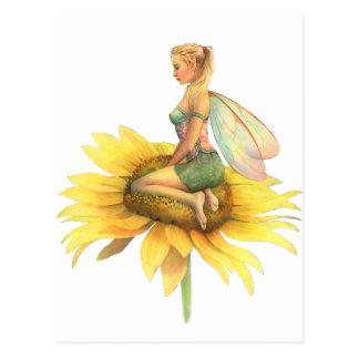 """Hada hermosa de la flor del """"girasol"""" de Scot Postal"""